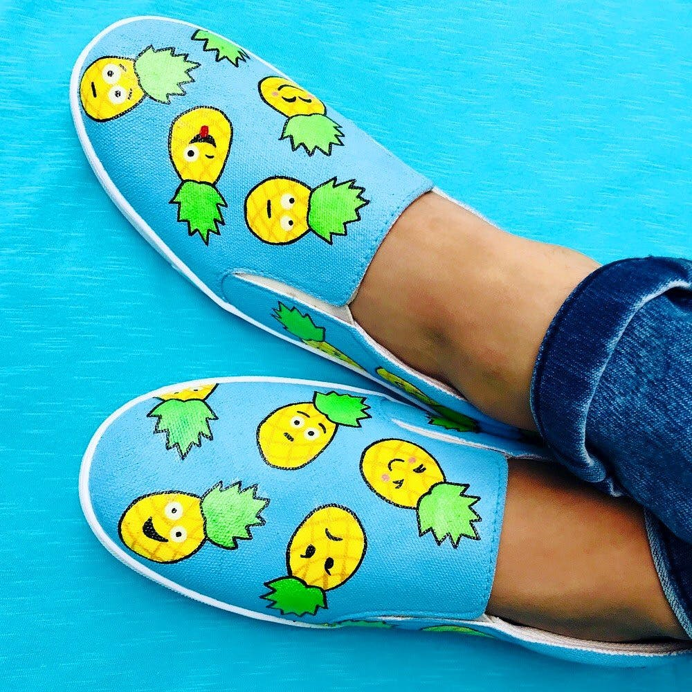 These Hand-Painted Waterproof Shoes Are What You Need If You're A Quirky Soul