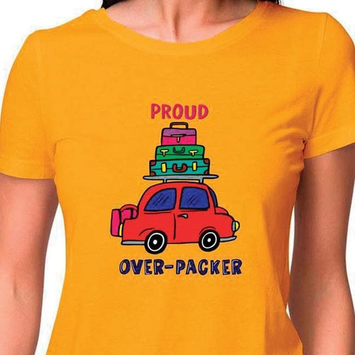 Yellow,T-shirt,Vehicle,Car,City car,Font,Top,Sleeve,Compact car,Subcompact car