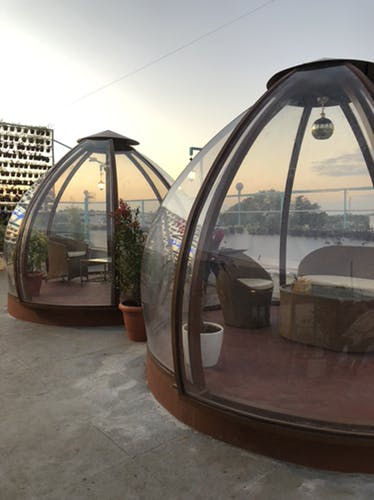 Dome,Architecture,Daylighting,Tent,House,Metal,Building