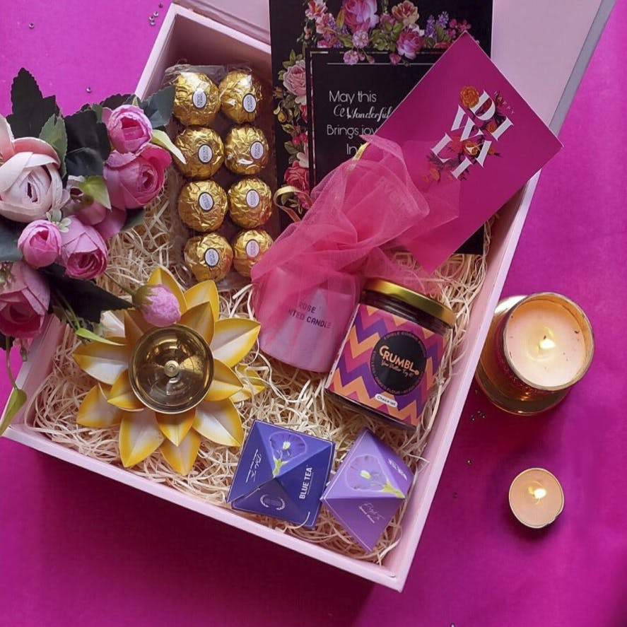 Purple,Pink,Chocolate,Party favor,Material property,Present,Hamper,Confectionery