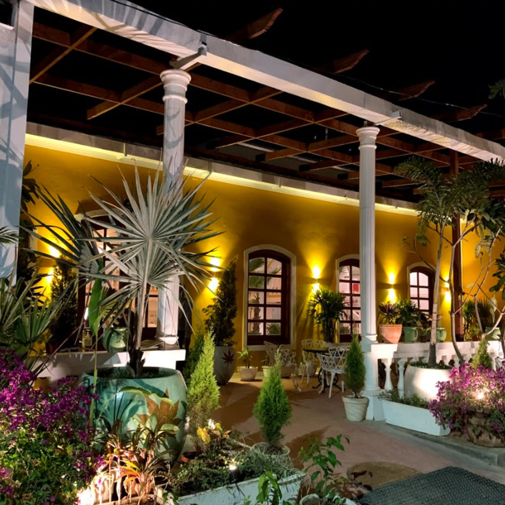 Property,Building,Lighting,Home,Real estate,House,Landscape lighting,Hacienda,Patio,Courtyard