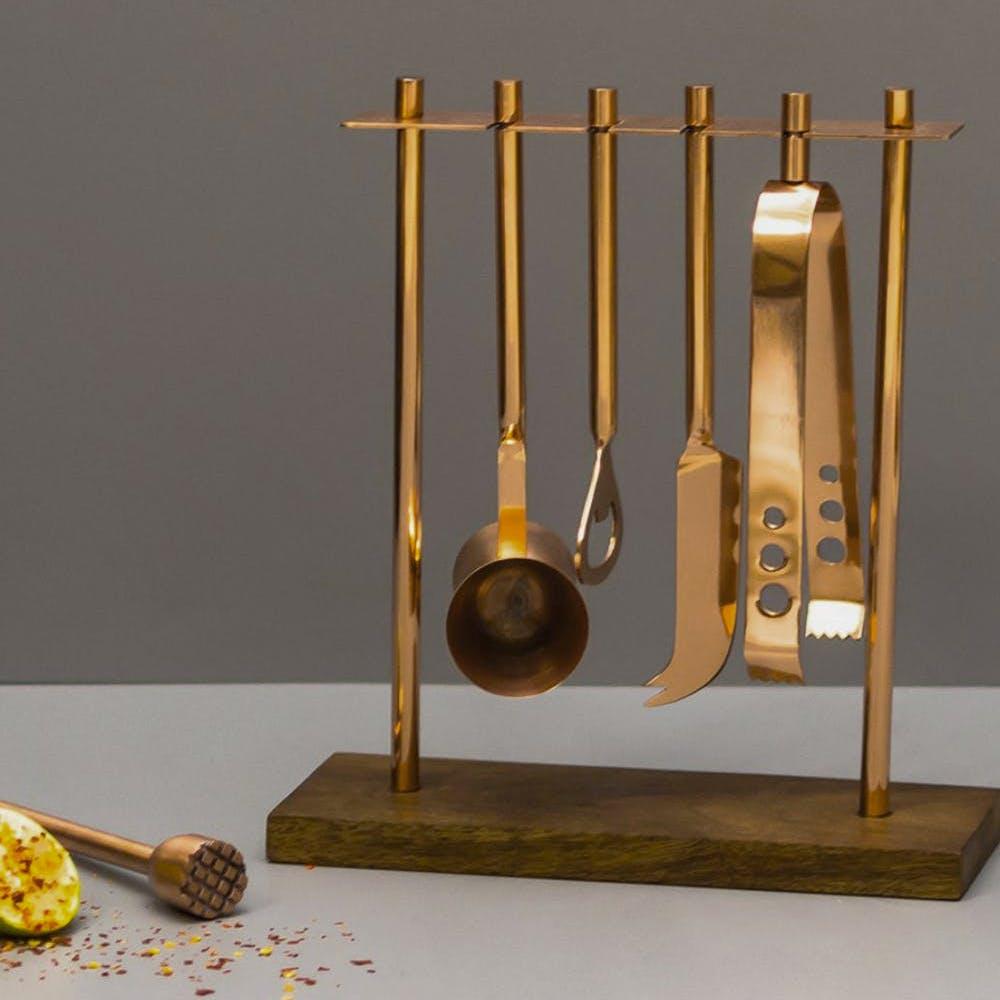 Bar Tool Accessories Set Copper