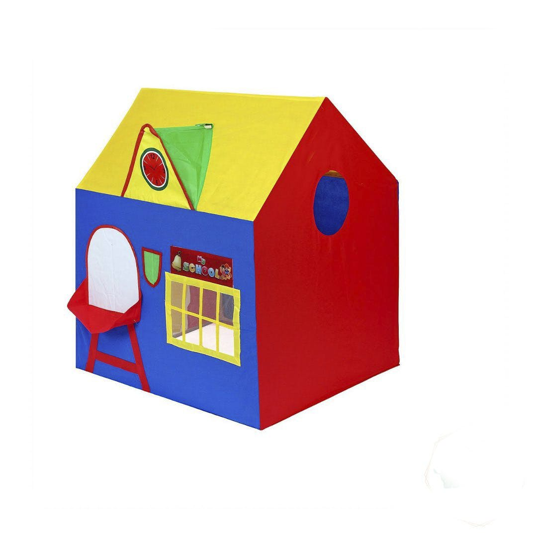 Blue,House,Rectangle,Playhouse,Illustration,Fictional character,Shed,Graphics,Paint,Hut
