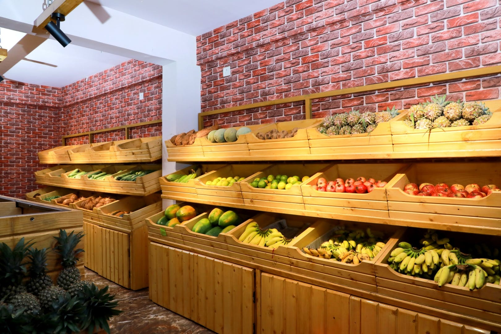 Whole food,Wall,Grocery store,Wood,Supermarket,Building,Local food,Hardwood,Retail,Interior design