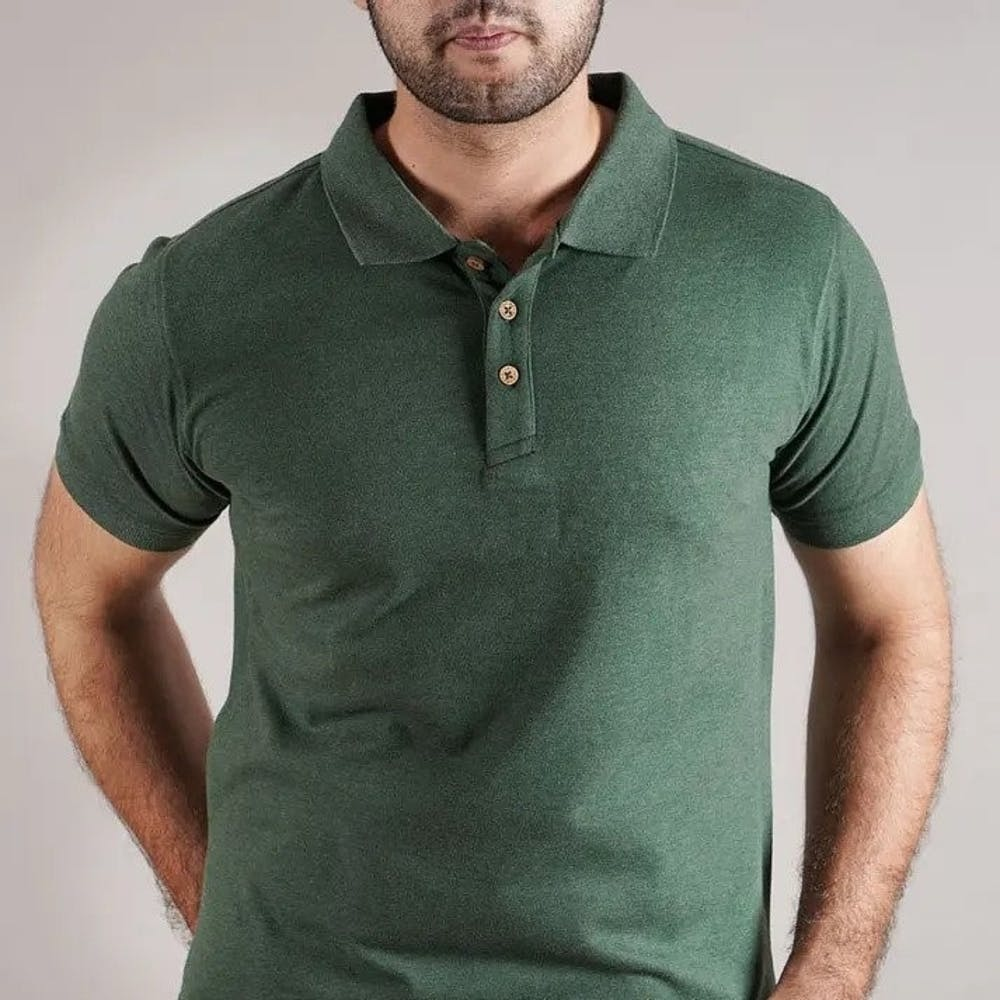 Men Basic Solid Stain Proof Polo T-Shirt