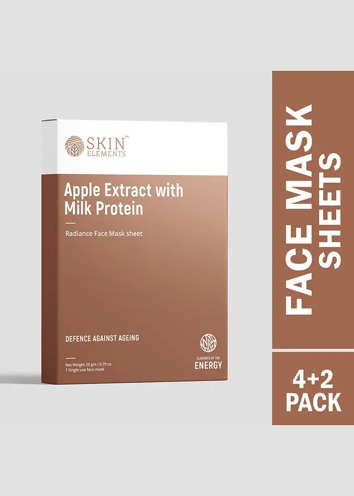 Anti-Ageing Face Mask Sheets With Apple Extracts & Milk Protein (Pack of 6)