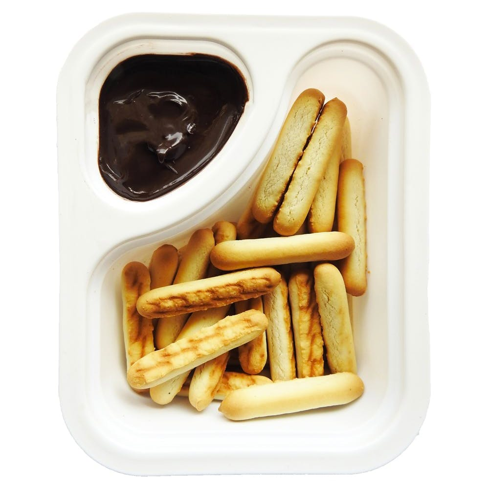 Chocolaty Dip with Biscuit Sticks (Pack of 12) - 12x30gm