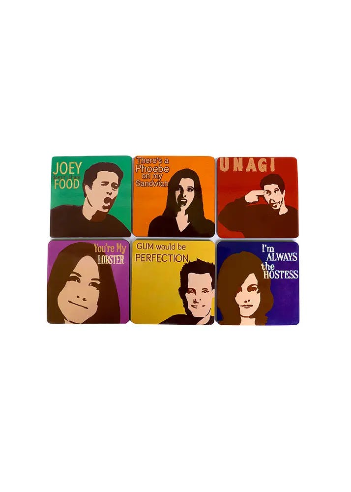 All My Friends Coasters (Set of 6)