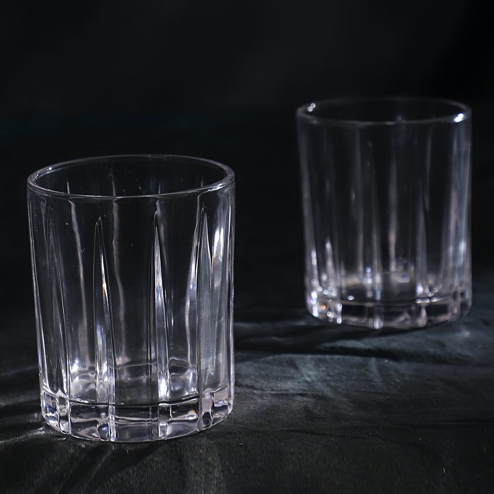 Side Cut Detail Whiskey Glass Set of 6
