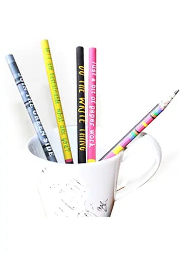 Up-cycled Multi-color Newspaper Pencils (Pack of 5)