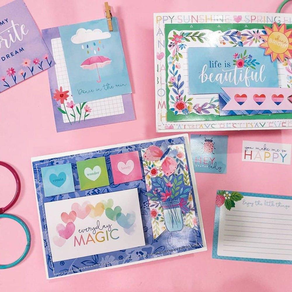 Green,Textile,Pink,Rectangle,Creative arts,Aqua,Magenta,Pattern,Stationery,Craft